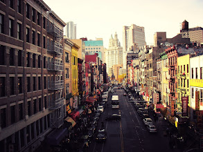 Photo: Above Chinatown looking out over East Broadway and the lower Manhattan skyline.   View the writing that accompanies this post here at this link on Google Plus:  https://plus.google.com/108527329601014444443/posts/aC7tQk9wdUo  View more New York City photography by Vivienne Gucwa here:  http://nythroughthelens.com/
