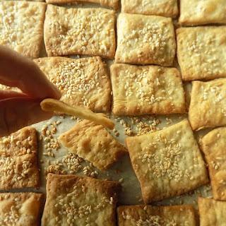 Sesame Seed Olive Oil Crackers.