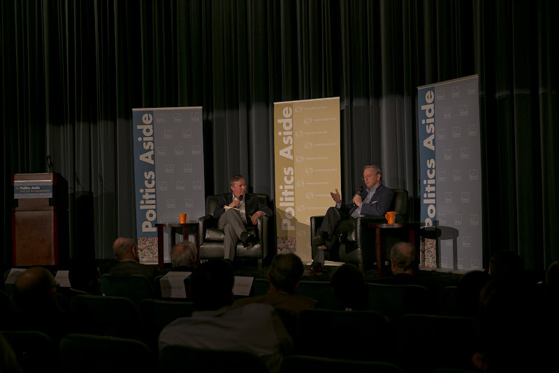 "Photo: Jonathan Weber interviews Eric Schmidt about ""The New Digital Age"" Thursday, Nov. 15, 2012 at the RAND Politics Aside event in Culver City."