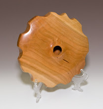 "Photo: David Jacobowitz - carved cherry hollow form, 9"" x 2"""