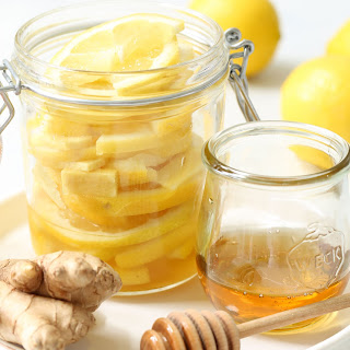 Detox Honey Lemon Ginger Slices