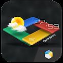 3Dライブ時計&天気ウィジェット(リアルタイム天気、無料) icon