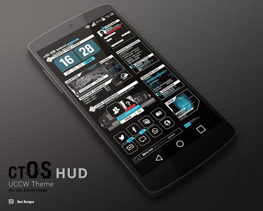 combatOS HUD - UCCW skin screenshot