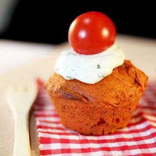 Tomato Basil Cupcakes.