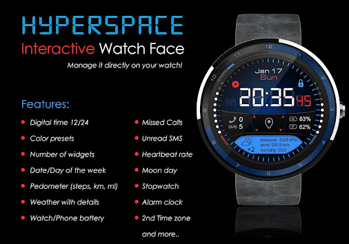 This watch face is awesome! One of the reasons I like Android, customizations…