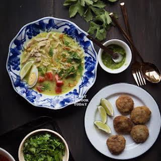 Soto Ayam Medan (Chicken Soup in Coconut Milk).
