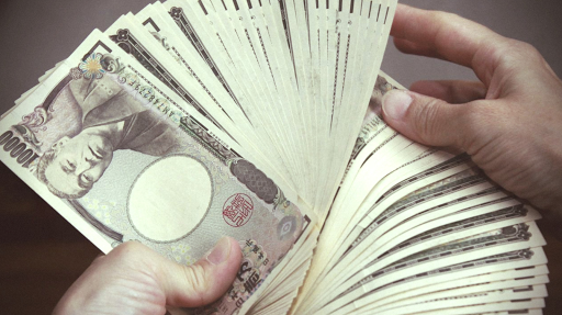 yen japonais beaucoup d'argent