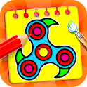 Fidget Spinner Coloring Book & Drawing Game icon