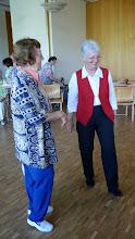 Photo: Gespräch mit unserer neuen Präsidentin Margrit Siegrist (r) und der Berichtersatterin der Volksstimme, Frau Frey.