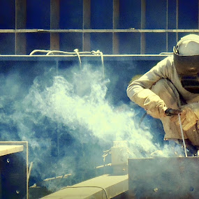 fumes and smoke by Siddhartha Chitranshi - Professional People Factory Workers ( fumes, worker )