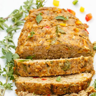 Slow Cooker Turkey Meatloaf (Veggie Loaded!).