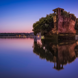 I will wait by Rebecca Ramaley - City,  Street & Park  Vistas ( reflection, dawn, homebush, blue hour, wreck, ayrfield, long exposure,  )