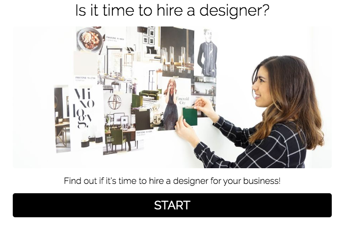 quiz cover for is it time to hire a designer?