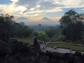 Photo: Mt. Merapi from the view of Boudoir in Indonesia. Courtesy of Ven. Robina's Facebook page.