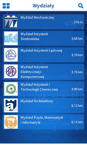android Politechnika Krakowska Screenshot 2