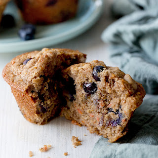 Whole-Grain Blueberry Muffins With Orange Streusel