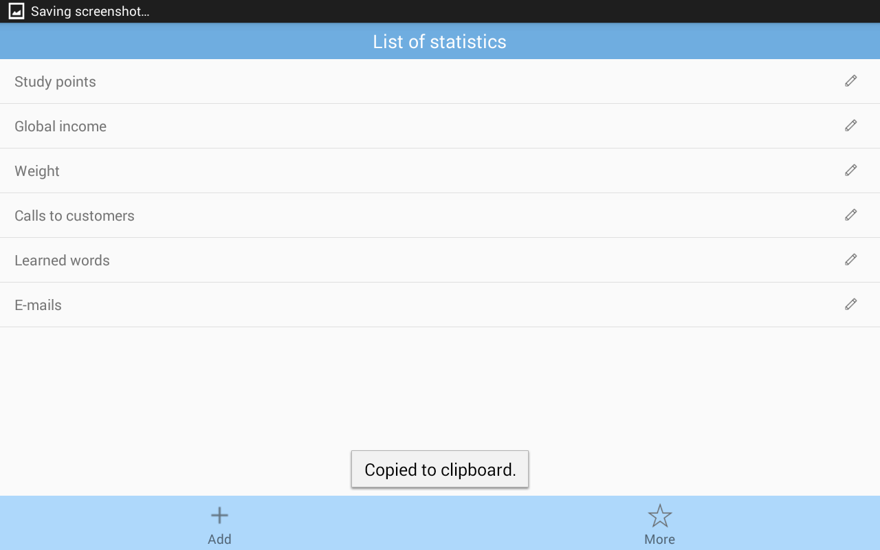 Statist - management by stats- screenshot