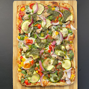 Explosion of Veggie Pizza