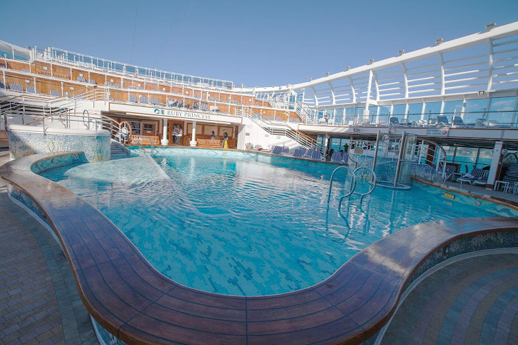 Cool off in one of Ruby Princess's four pools.