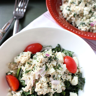 Spinach, Egg White and Tuna Salad