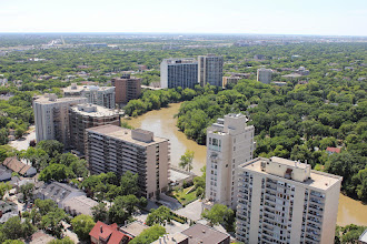 Photo: Overlooking the Assiniboine River to the southwest