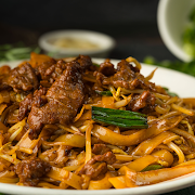 Sliced Beef & Soy Sauce Fried Rice Noodle