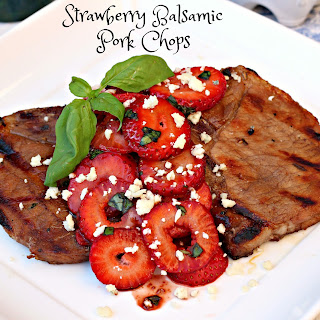 Strawberry Balsamic Pork Chops