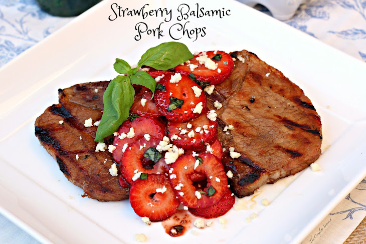Strawberry Balsamic Pork Chops Recipe