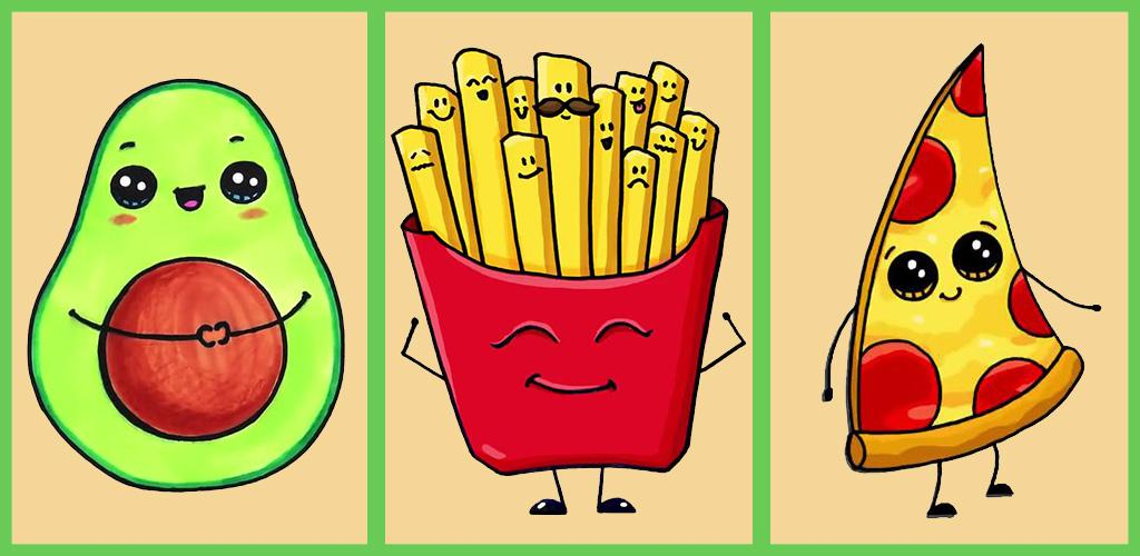 Детские рисунки еды поэтапно
