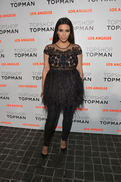 Photo: Kim Kardashian arrives at the Topshop LA opening party at Cecconi;s.  Shop LA Style > http://bit.ly/XbGtM6