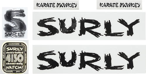 Surly Karate Monkey Decal Set - Black
