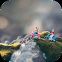 걸리버여행기 자전거여행 쿠키즈 홈 테마 icon