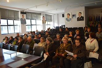 Photo: Reunião preliminar com formandos no auditório da Câmara