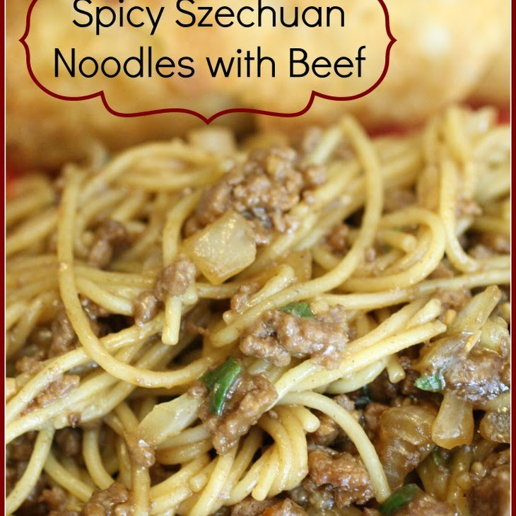 Spicy Szechuan Noodles Beef