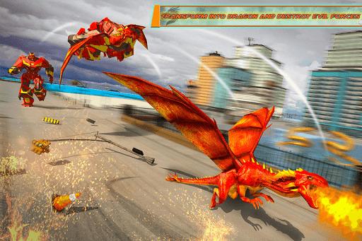 Flying Dragon Robot Car - Robot Transforming Games 2.5 screenshots 2