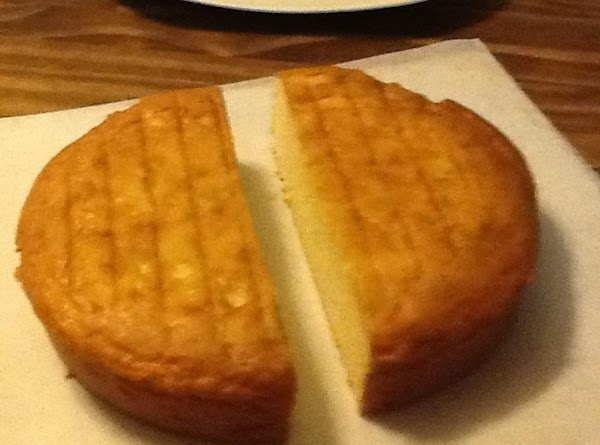 Cake assembly: Cut cake in half.