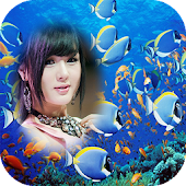 underwater photo frames costume montage editor