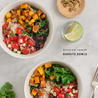 Butternut Squash Burrito Bowls.