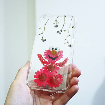 [訂製/custom-made] Elmo Pressed Flower Phone Case