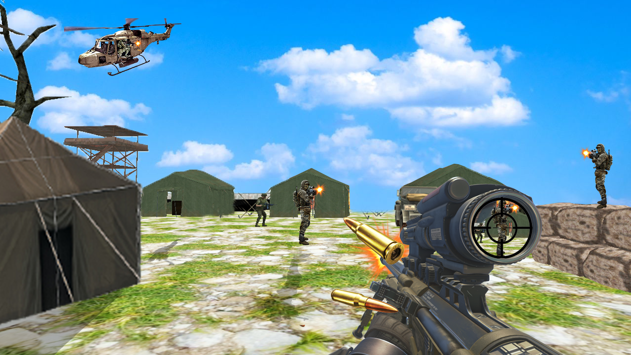 Commando combat shoot 3D- screenshot