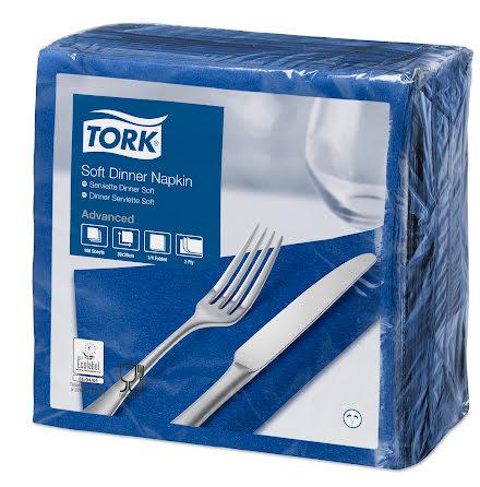 Tork mjuk middagsservett m.blå