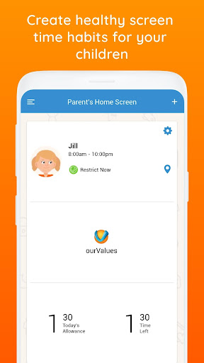ourValues Smarter Screen Time & Parental Control ss1