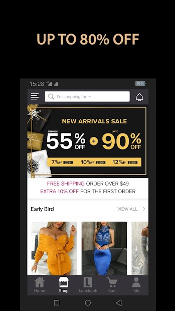 Chic Me - Best Shopping Deals Android App Screenshot