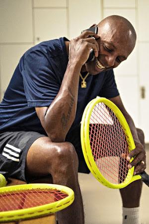 Marcio Luis da Silva, professor de tênis