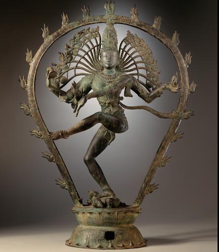 Sculpture en bronze de Shiva-Natarâja du Xe siècle. Musée d'art du comté de Los Angeles. photographed by the LACMA