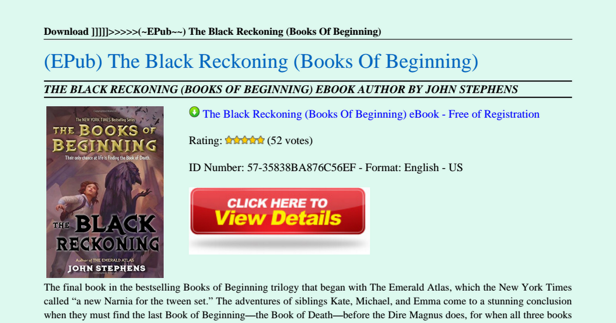 the black reckoning pdf free download