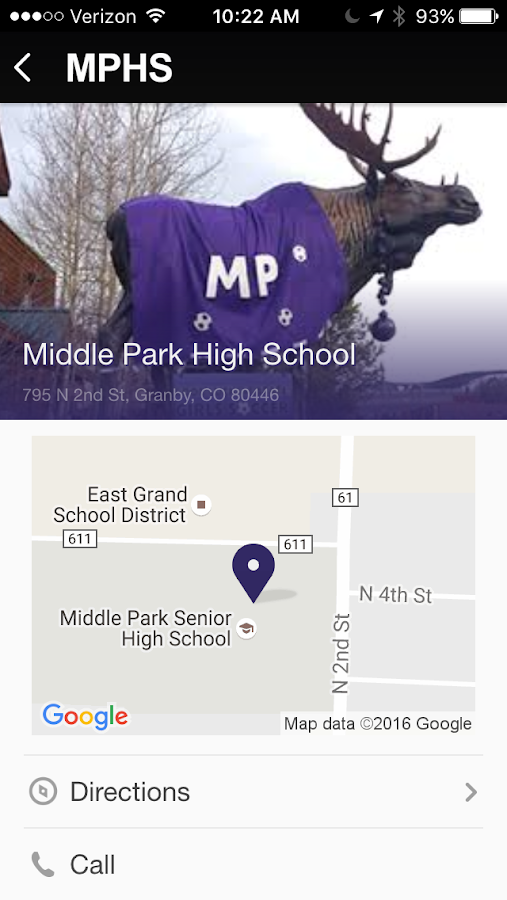 Middle Park High School- screenshot