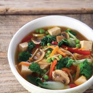 Asian Vegetable Noodle Soup.