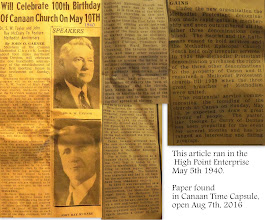 Photo: This Article found in 1940 Time Capsule 1941, Opened at Canaan Homecoming Aug. 7th., 2016 http://CanaanUMC.net