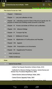 India - Central Excise Act &Rules 1944- screenshot thumbnail